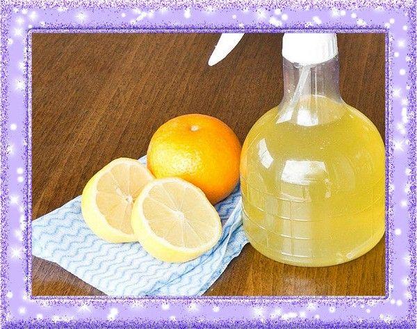 2. Чистящее средство. Из лимонов получается прекрасное чистящее и дезинфицирующее средство. Для его приготовления понадобятся цедра лимонов и уксус. Лимонные корки нужно положить в банку, залить уксусом, закрыть крышкой и оставить на 2 недели. Через 14 дней процедить получившуюся настойку, разбавить водой (50 на 50) и можно приступать к уборке.