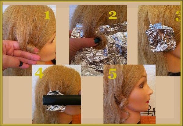 9. Если ваши волосы плохо поддаются завивке, используйте алюминиевую фольгу и утюжок для создания очаровательных кудрей.