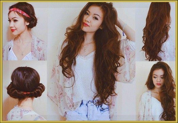 5. Безболезненный для вас и ваших волос метод приобретения волнистых волос. Нужна лишь резинка или повязка для волос. А ещё так можно спокойно спать.