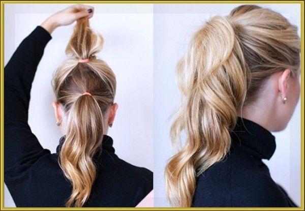 4. Зрительно увеличить длину своих волос позволит трюк с двойным конским хвостом.