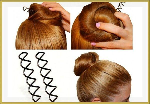 14. Если у вас прямые или очень непослушные волосы, то, вместо обычных невидимок, используйте спиральные шпильки (они буквально вкручиваются в волосы). С ними ваша прическа продержится до заката!