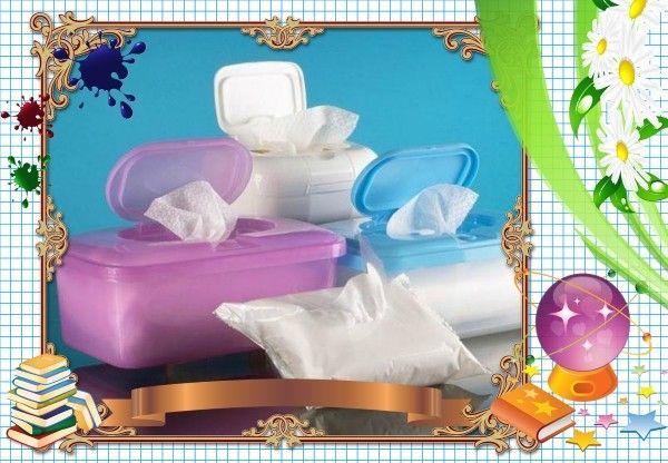6. В портфеле или рюкзаке обязательно должна быть пачка бумажных платков и влажных салфеток. Полезнейшая штука! Ими можно вытереть руки после использования мела, завернуть протекшую шариковую ручку или применить вместо туалетной бумаги.