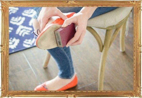 6. Обувь скользит? Потрите подошву наждачной бумагой, сцепление с дорогой станет лучше.