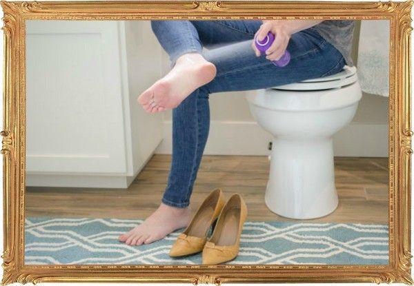 8. Туфли или босоножки немного великоваты и ступня постоянно «едет» вперед? Обработайте ноги небольшим количеством лака для волос. Скольжение сойдёт на «нет», и туфли – снова туфли, а не коньки.
