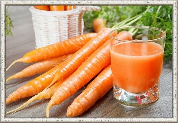 6. Морковно-лимонный сок. Снять цедру с одного лимона, мелко нарезать, залить водой, добавить сахар, проварить, дать остыть. 500 г моркови натереть на терке, залить отваром цедры, размешать, выжать сок, добавить лимонный сок и сахар (можно мед).