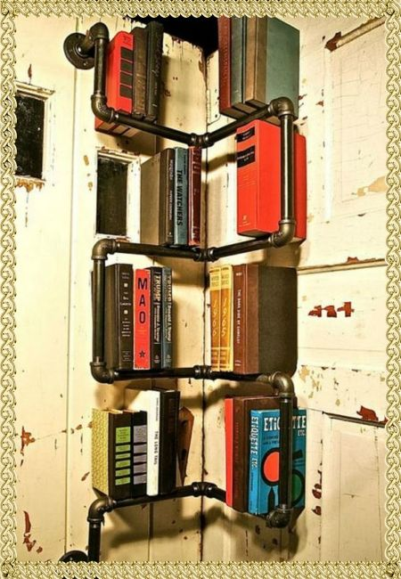 Необычные полки для книг