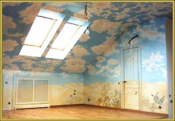 Роспись потолка.