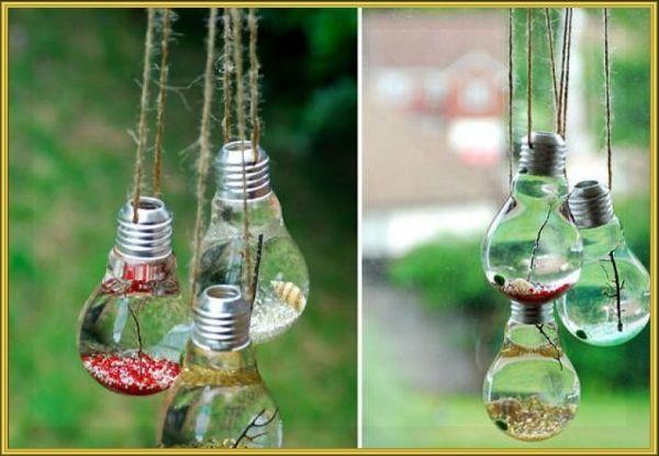 Поделки из ненужных лампочек