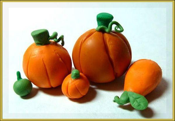 Поделки из пластилина на тему осень