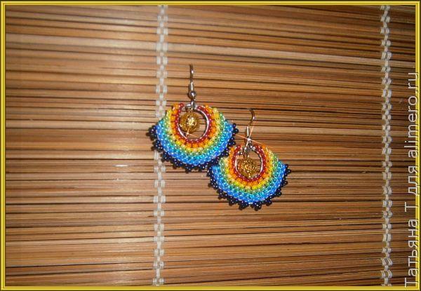 Сережки из бисера