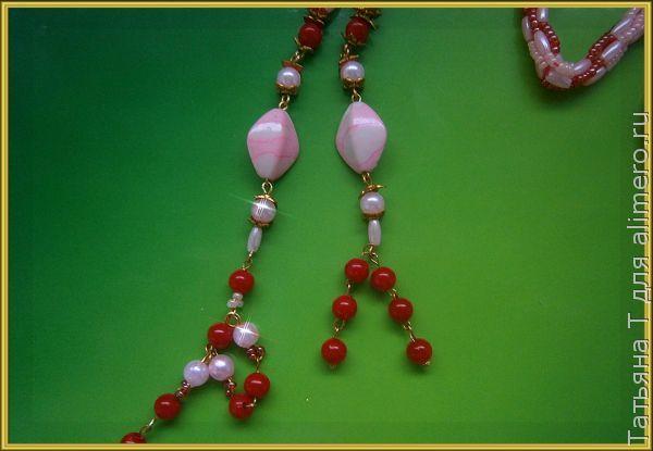 Бисерный жгут-лариат
