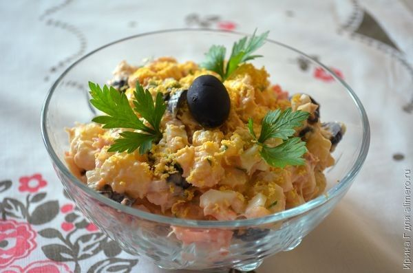 Рыбный салат с треской