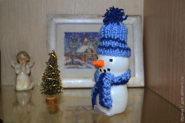 "Новогодняя поделка ""Снеговик"""