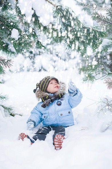 Для фото с падающим снегом или снежными фонтанами используйте серийную съемку.
