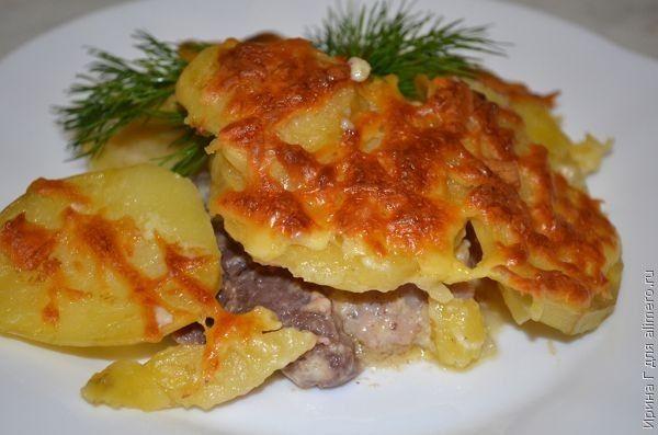 Картофель с мясом по-французски рецепт