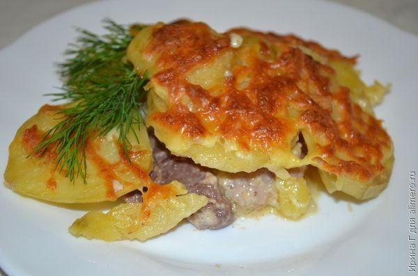 Картофель  мясом по-французски рецепт