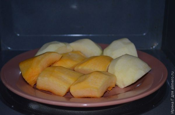 тыквенно-яблочный десерт рецепт