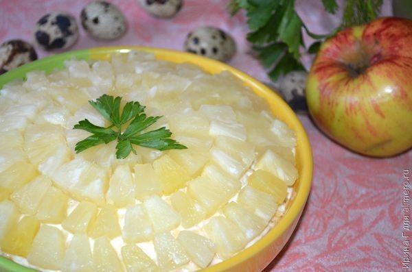 рыбный салат с консервами рецепт