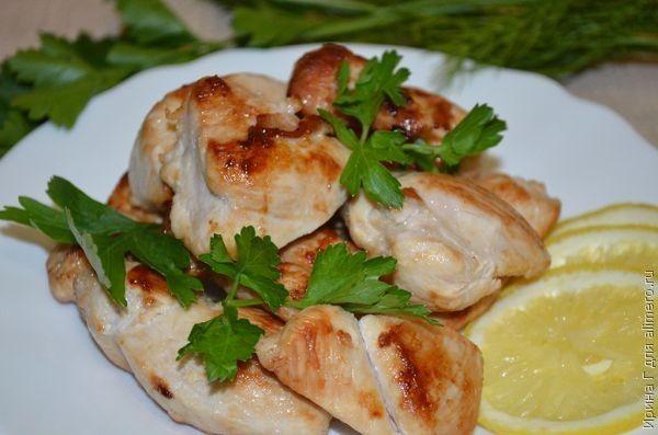 куриное филе с лимоном рецепт