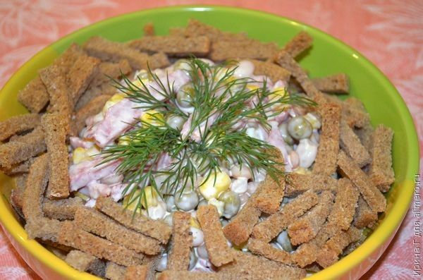 Рецепты салатов из мяса курицы