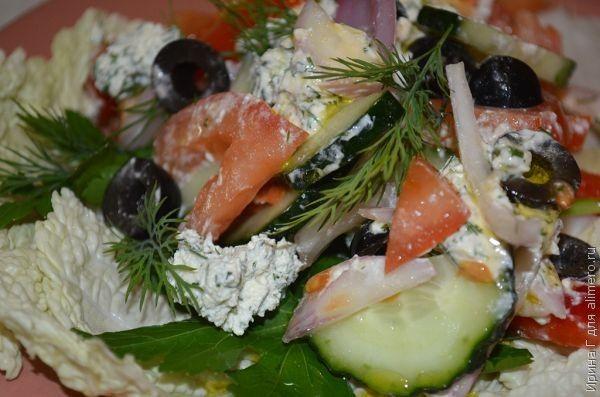 Салат с домашним сыром фото рецепт 8