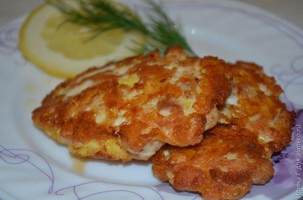 курино-сырные котлеты рецепт