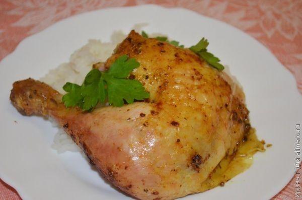 курица, запеченная целиком рецепт