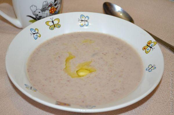 молочный суп-пюре из гречки рецепт