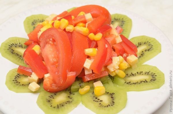 салат с киви рецепт