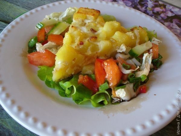 омлет с картофелем рецепт