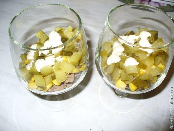 салат-коктейль из печени рецепт