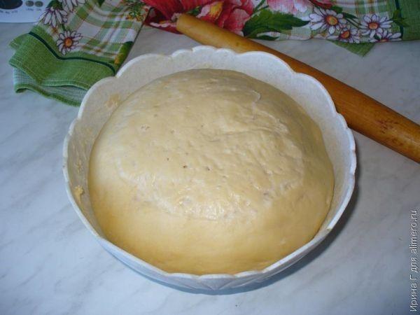 дрожжевое тесто холодный способ рецепт