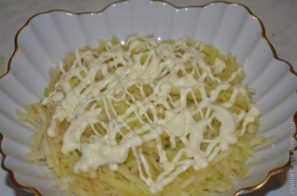 салат сырно-яблочный рецепт