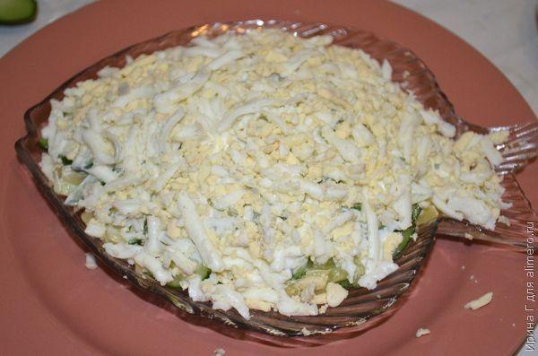 салат из сельди с огурцом рецепт
