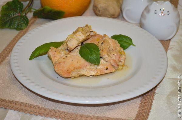 куриная грудка а имбирно-апельсиновом маринаде