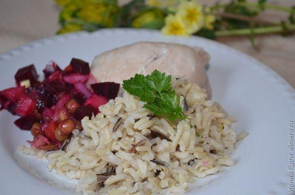 бурый и дикий рис рецепт
