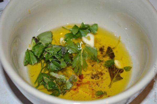 салат с маринованной брынзой