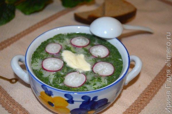 холодный огуречный суп на айране