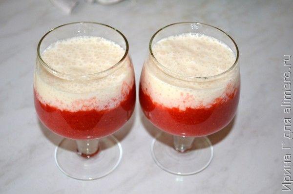 десерт из клубники и ряженки рецепт