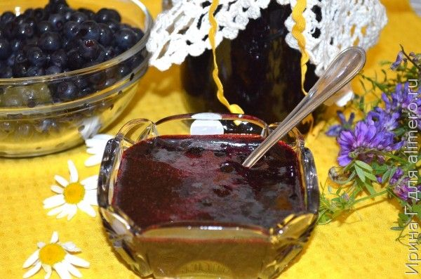 черника, протертая с сахаром рецепт