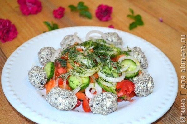 салат с оливковой пастой