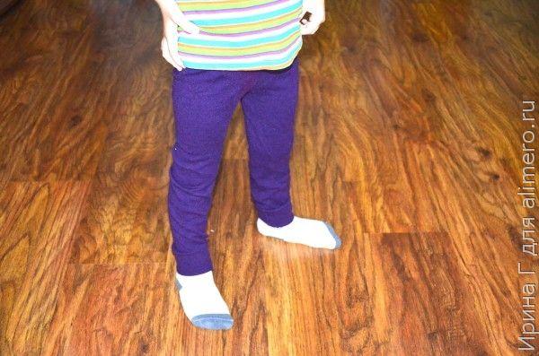 детские рейтузы из старого свитера