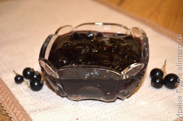 варенье-пятиминутка из черной смородины