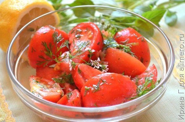 помидоры с имбирем