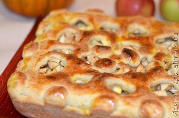 яблочный пирог из пресного теста