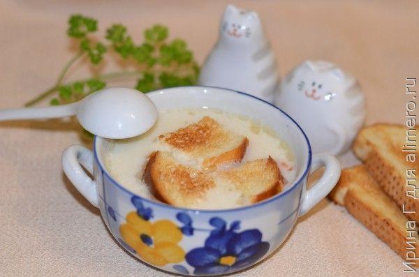 суп-лапша с плавленым сыром