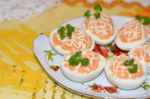 закуска из яиц с морковью