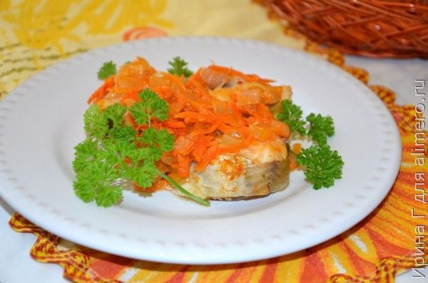 минтай с овощами в микроволновке