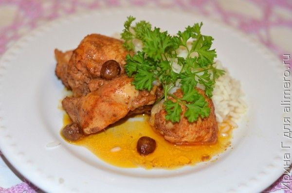 курица с изюмом и карри
