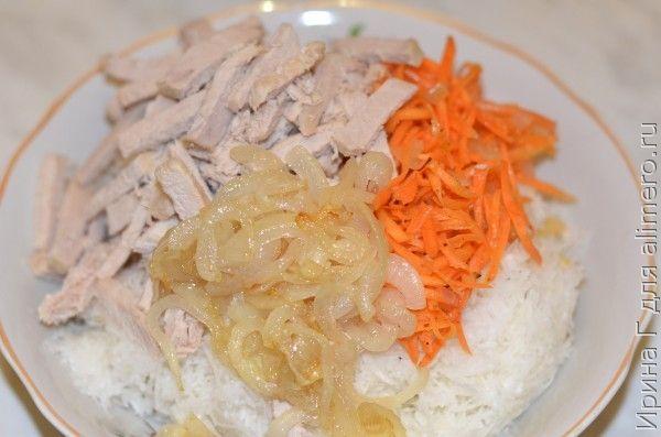 салат из черной редьки с мясом